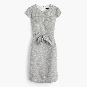 J. Crew Belted Black / White Tweed dress #3787